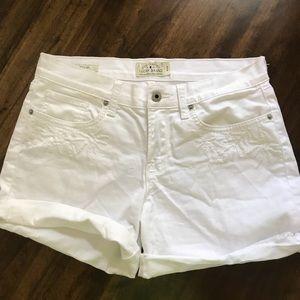 Lucky Brand White Denim Embroidered Shorts